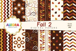 Fall 2 Digital Paper Pack