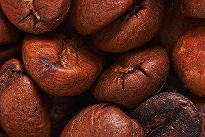 grains of coffee