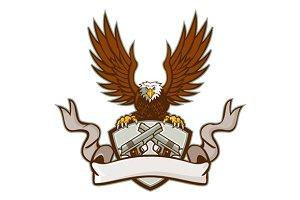 Bald Eagle Crossed 45 Caliber