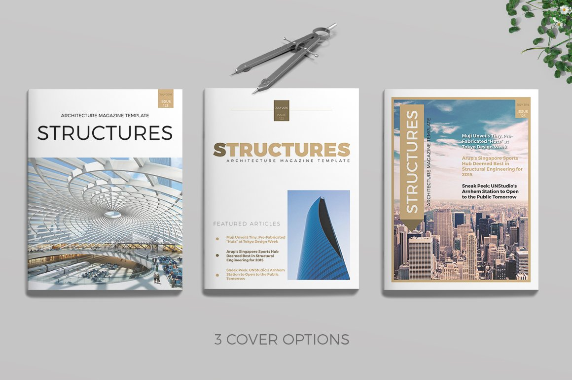 Architecture Magazine Templates Creative Market