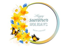 Happy Summer Holiday Banner
