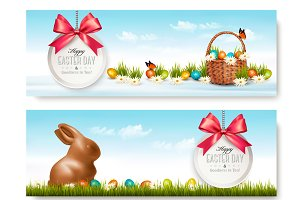 Two Easter Banners. Vector
