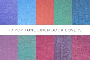 10 Pop Tone Linen Book Covers