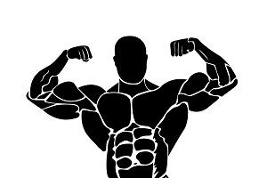 vector illustration of bodybuilding
