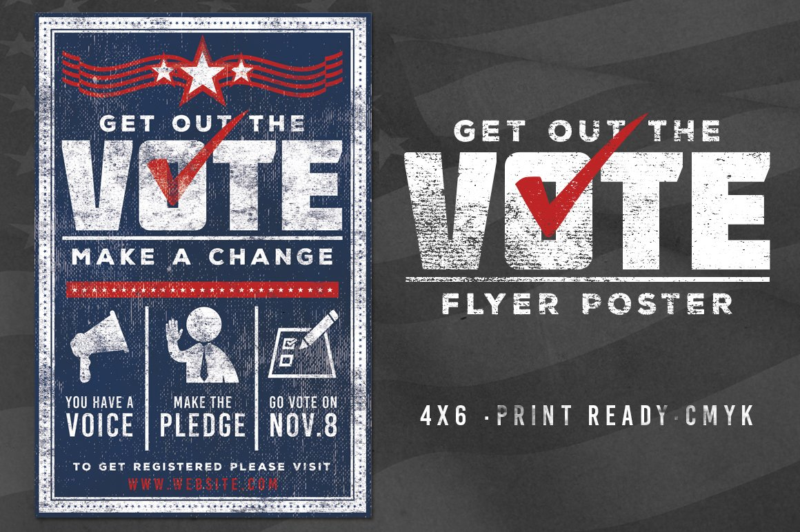 vote patriotic election flyer poster flyer templates creative market