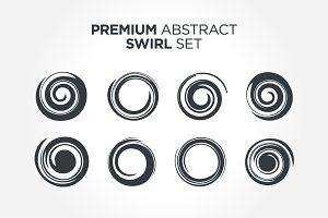 Premium Abstract Spiral Set