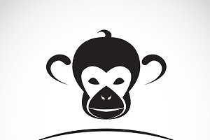 Vector image of an monkey