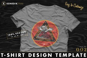 T-Shirt Design Template 002