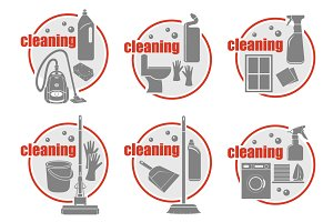 Set of icon cleaning