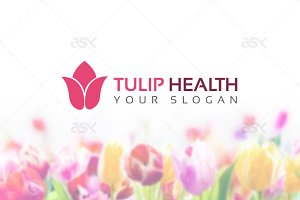 Tulip Health Logo Template