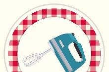 Mixer. Vintage kitchen icon