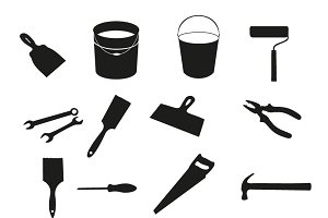 Building tools vector isolated