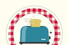 Toster. Vintage kitchen icon