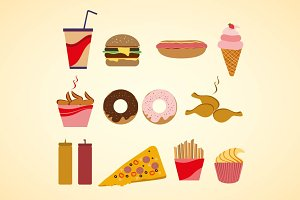Vector fast food clip-art isolated