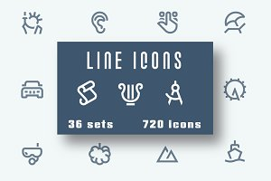 IconAlone Line icons pack