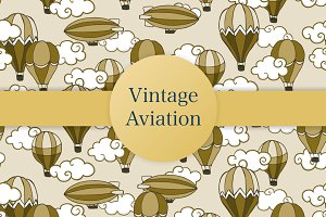 Vintage aviation patterns