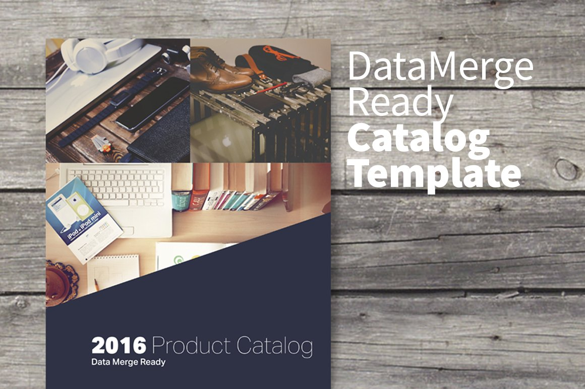 Data Merge Product Catalog ~ Magazine Templates ~ Creative Market