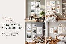 Frame & Wall Mockup Bundle by  in Mockups