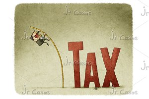 jump over a tax with a pole
