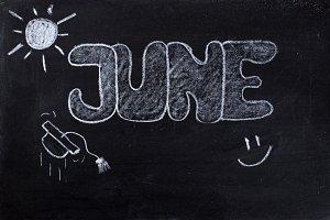 June handwritten on Blackboard