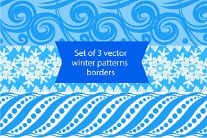 Winter pattern borders