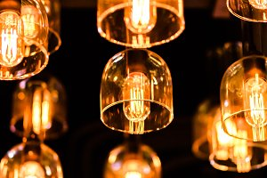 Retro Edison light bulb