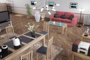 3D Furniture Models - Interior Props