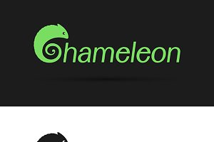 Vector design chameleon is text