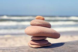 Pebble stones balancing