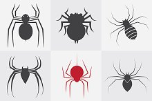 Set of vector spider icons