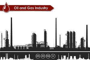 Oil and gas refinery vector set
