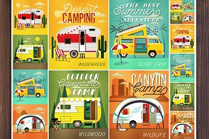 Set of Travel Trailer Caravans