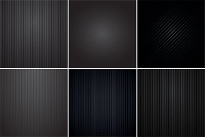 Colleciton of black striped textures