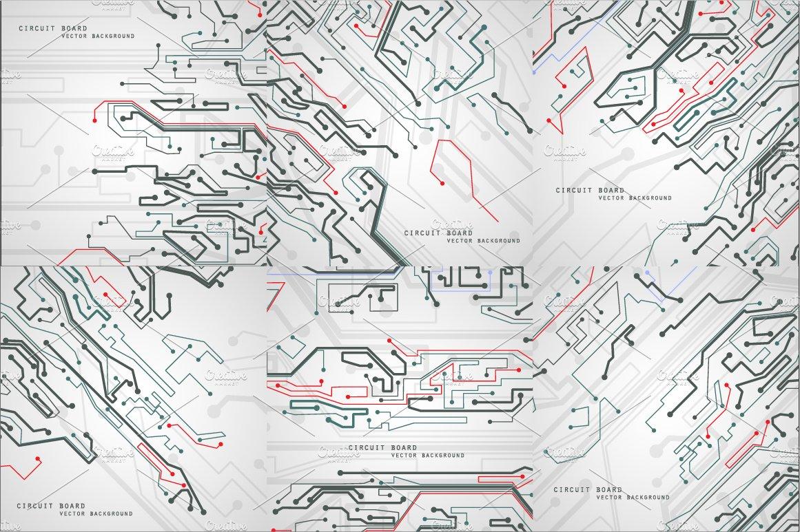 Circuit board vector background ~ Textures ~ Creative Market