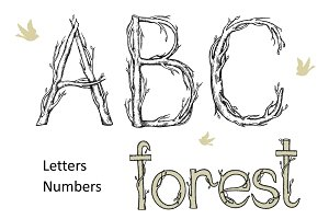 Alphabet forest.