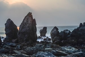Big Rocks in Beach