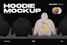 Hoodie Mockup - Gildan 18500 by  in Mockups