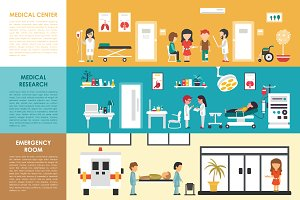 Hospital Flat Interios 9 collections
