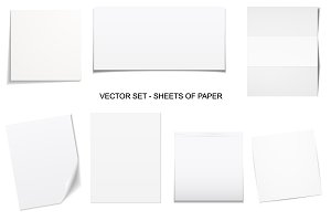 Sheets of paper. Vector collection.