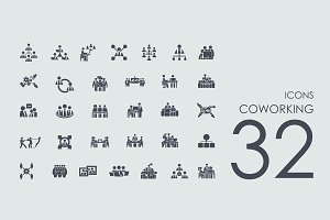 32 Coworking icons