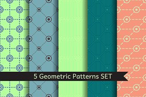 5 Geometric Patterns SET