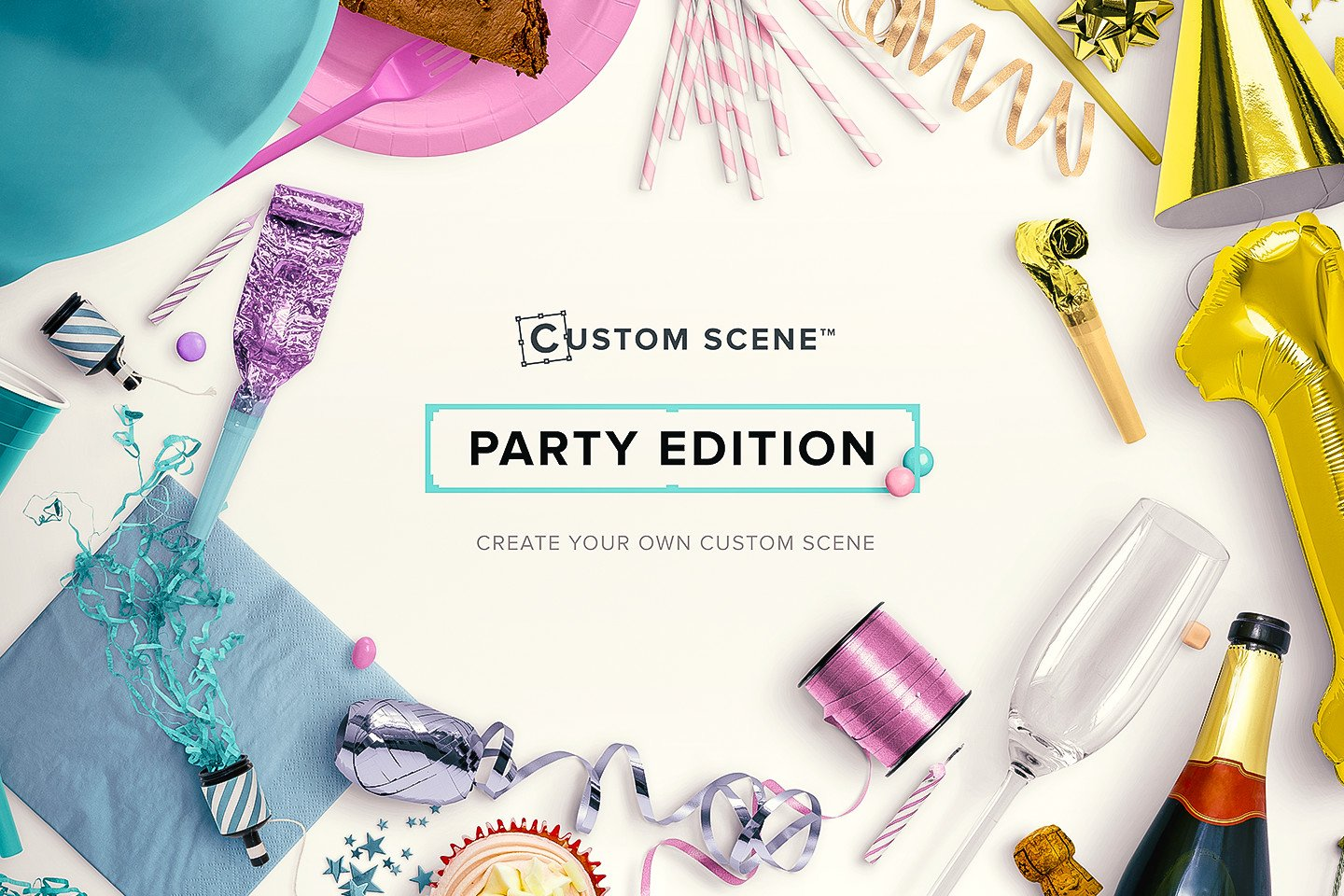 how to draw a birthday party scene