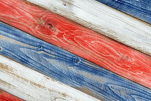USA wooden national colors