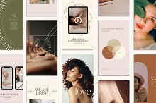 SALE! Autumn Instagram Creator CANVA by  in Social Media