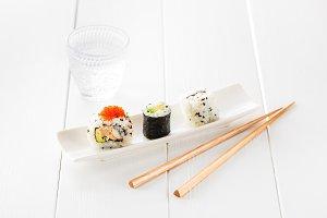 Delicious maki sushi