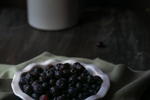 Berries in tiny pie plate