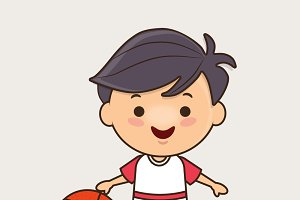 Chibi boy with ball