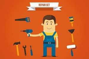 Vector repairman set