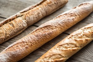 Three baguettes