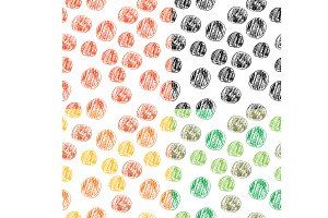 4 seamless handdrawn patterns